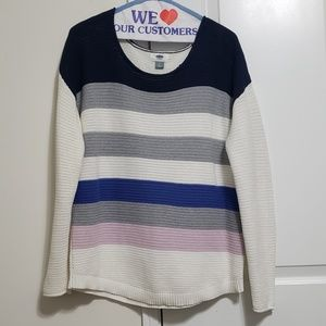 Old Navy Color Block Sweater LG